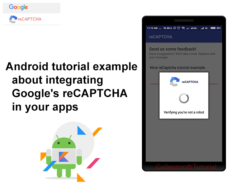 Android example for integrating captcha in android example - Galleonsoft
