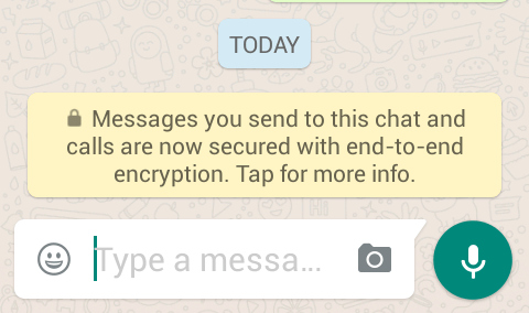 WhatsApp end to end encryption